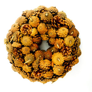 Krans Kerst | Dennenappel Bruin Naturel