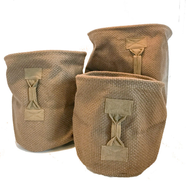 Plant Basket Jute Bruin set