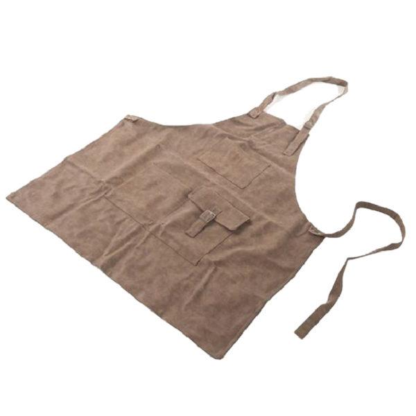 Werkschort lederlook bruin