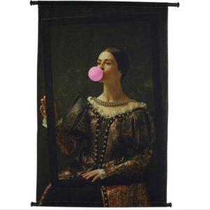 Wandkleed | Meisje met bubblegum