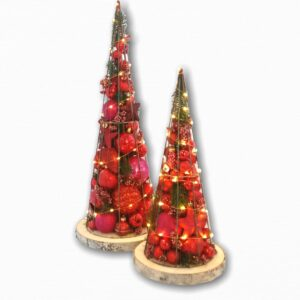 Kerstboom | Limited edition | Rond | Rood