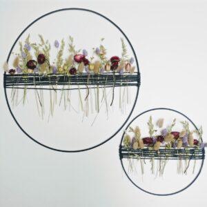 Droogbloemen | Decoratie Cirkel | Pastelkleuren