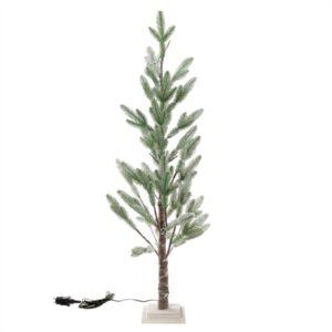 Kunstboom | kerst | Deluxe | Groen met sneeuw | met verlichting | 120 cm