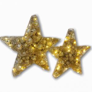 Ster | Kerst | Goud | Met verlichting