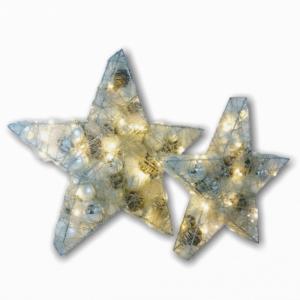 Ster | Kerst | Zilver | Met verlichting