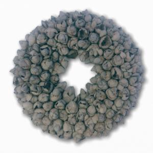 Krans Coco Fruit | Grey wash | 40cm