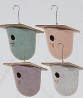 Vogelhuisje   design eco bamboe   bowl   groen   18,5 x 20 cm