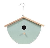 Vogelhuisje   design eco bamboe   box   groen   25 x 16 x 19 cm