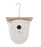 Vogelhuisje   design eco bamboe   bowl   wit   18,5 x 20 cm