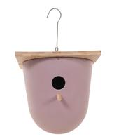 Vogelhuisje   design eco bamboe   bowl   lila   18,5 x 20 cm
