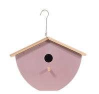 Vogelhuisje   design eco bamboe   box   lila   25 x 16 x 19 cm